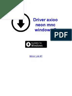 Axioo Neon Rne Driver : axioo, driver, Driver, Axioo, Windows, Belajar