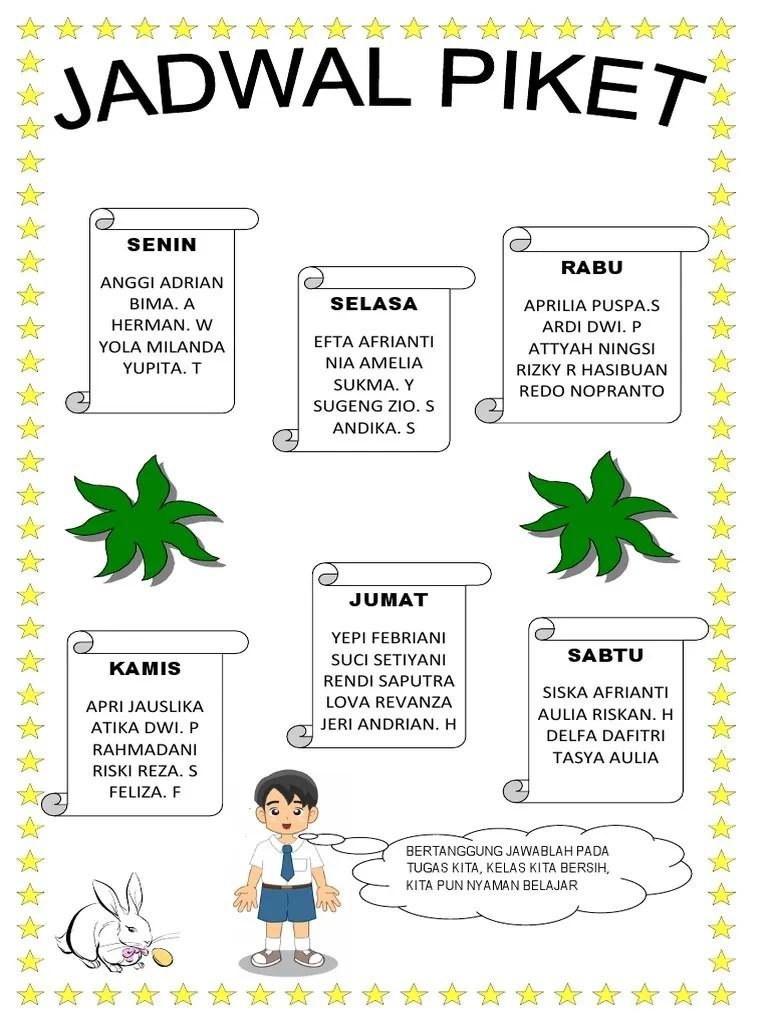 Contoh Gambar Jadwal Piket Kelas Yang Unik : contoh, gambar, jadwal, piket, kelas, Contoh, Gambar, Jadwal, Piket, Kelas, Karton