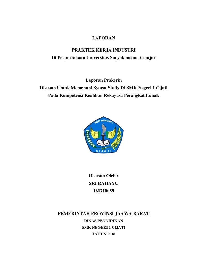 Contoh Laporan Prakerin Jurusan Rpl Cute766