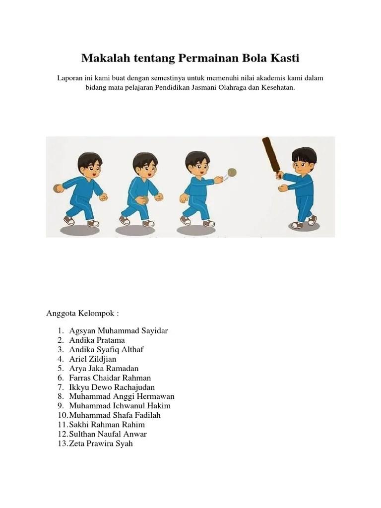 Makalah Bola Kasti : makalah, kasti, Makalah, Tentang, Permainan, Kasti.docx