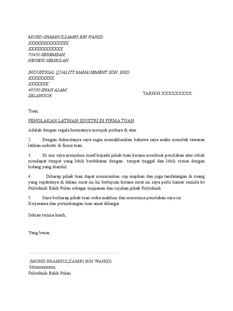 Surat Penolakan Kerjasama : surat, penolakan, kerjasama, Surat, Penolakan
