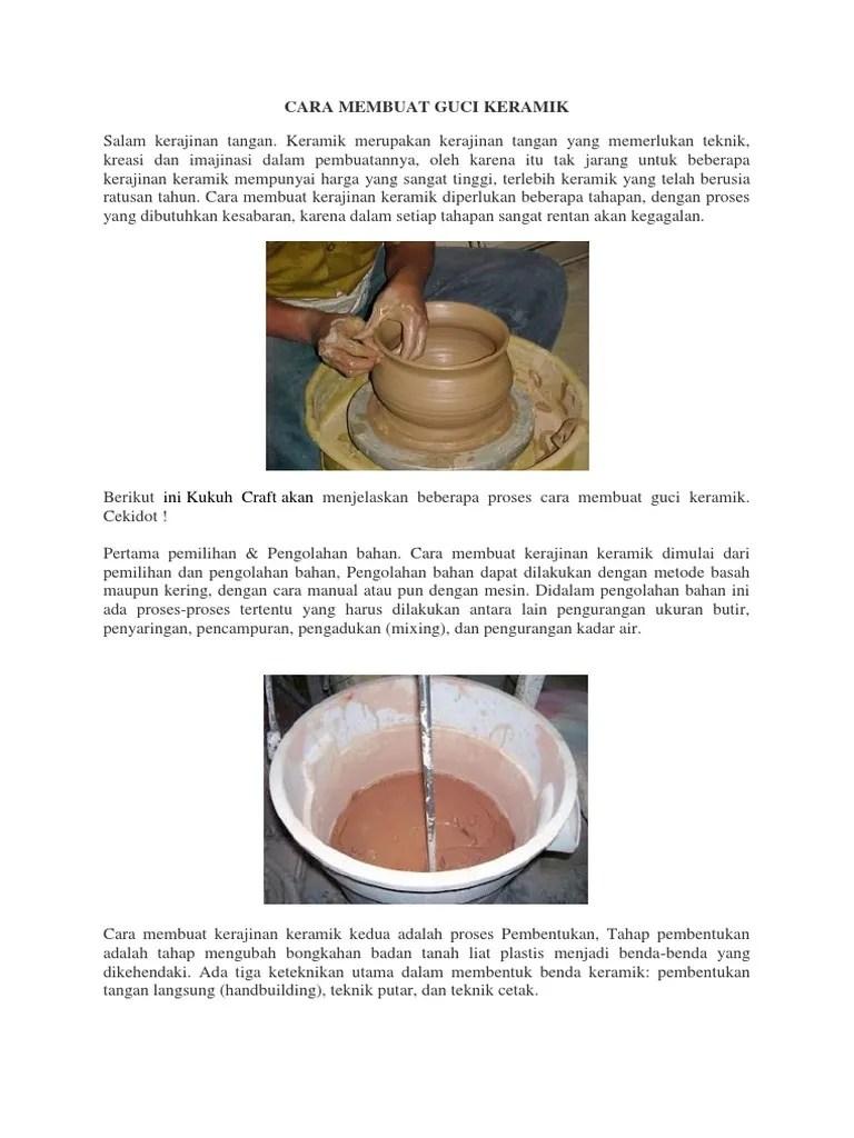 Tahap Awal Membuat Kerajinan Tangan Adalah : tahap, membuat, kerajinan, tangan, adalah, Membuat, Keramik