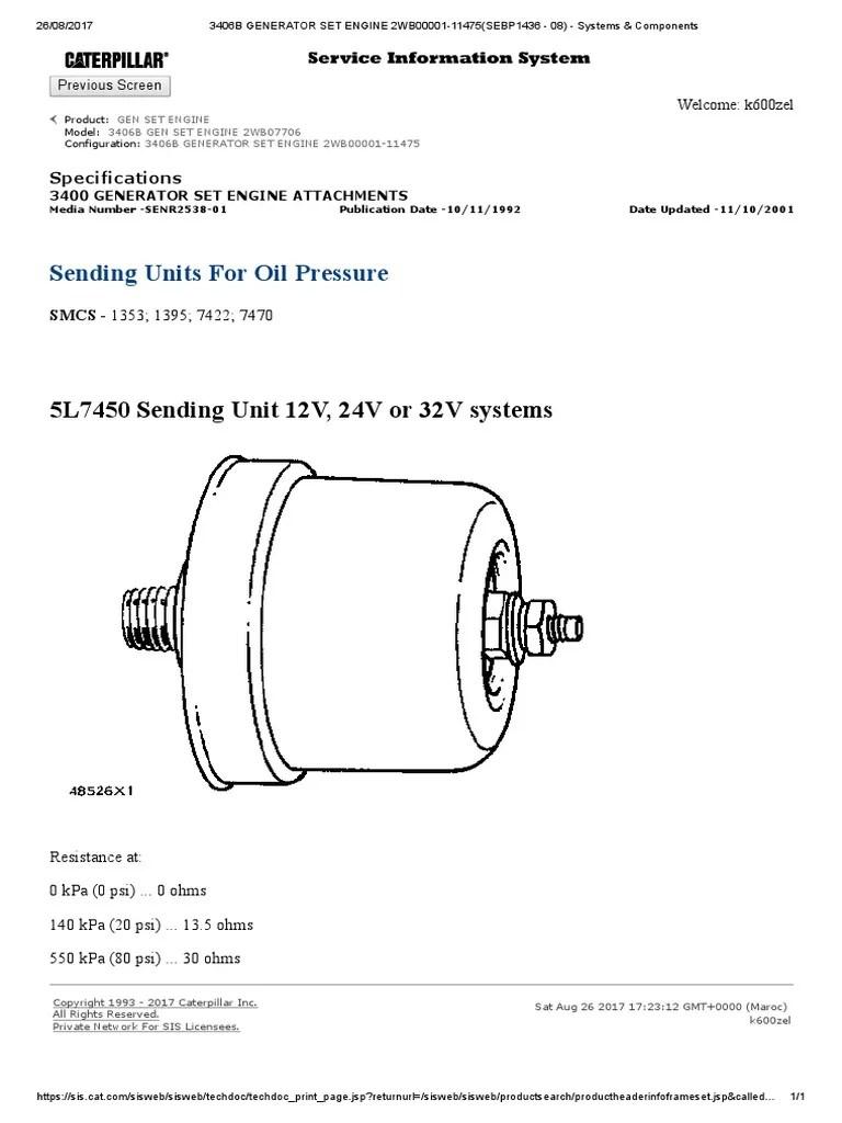 3406b generator set engine 2wb00001 11475 sebp1436 08 systems components [ 768 x 1024 Pixel ]
