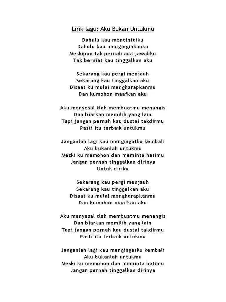 Lirik Lagu Papinka Dirimu Bukan Untukku : lirik, papinka, dirimu, bukan, untukku, Lirik, Bukan, Untukku
