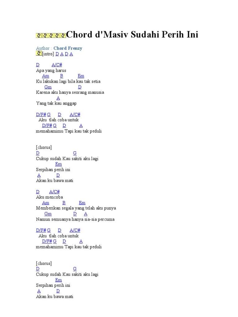 Lirik Lagu Sudahi Perih Ini : lirik, sudahi, perih, Kunci, Gitar, Masiv, Perih, Belajar