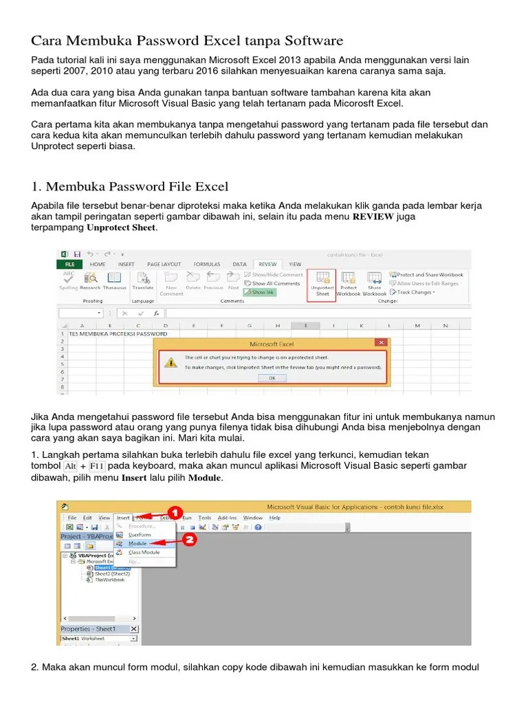 Cara Membuka Workbook : membuka, workbook, Membuka, Protect, Workbook