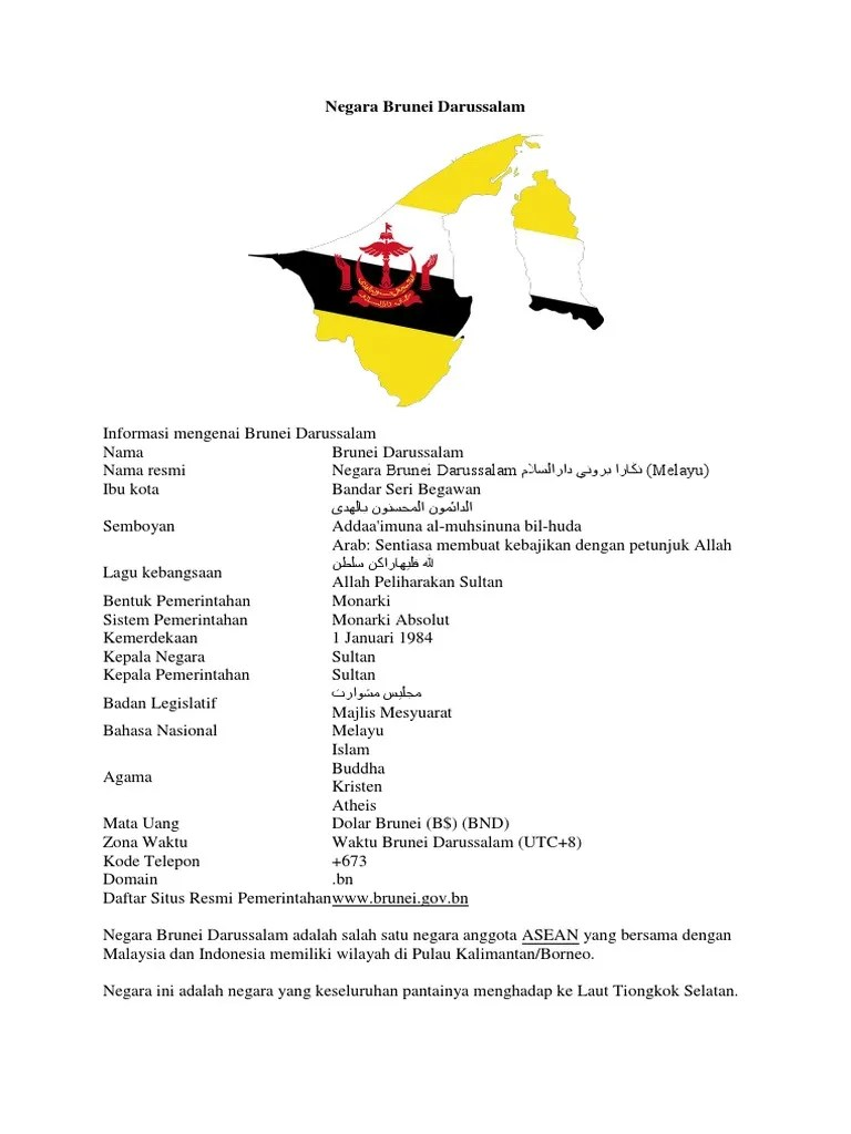 Sistem Pemerintahan Brunei Darussalam : sistem, pemerintahan, brunei, darussalam, Negara, Brunei, Darussalam