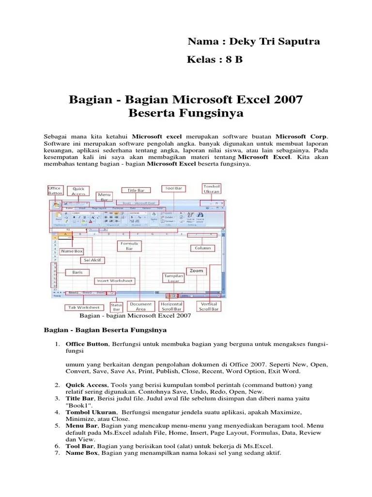 Tab Home - Menu dan Fungsi Ikon yang ada di Microsoft Excel