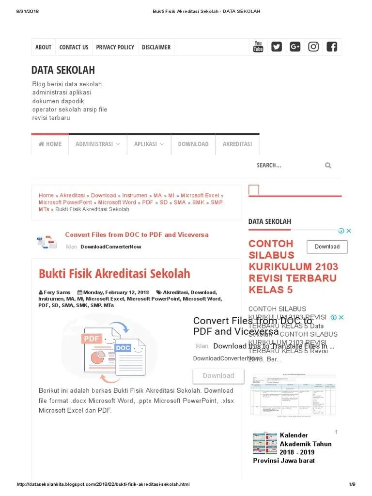 Cara Mudah Download Sertifikat Akreditasi Sekolah Sd,Smp,Sma