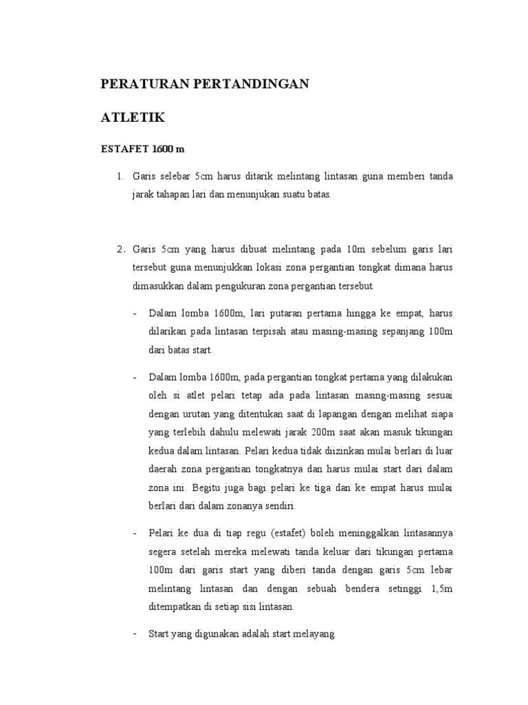 Peraturan Permainan Atletik : peraturan, permainan, atletik, Peraturan, Pertandingan, Atletik