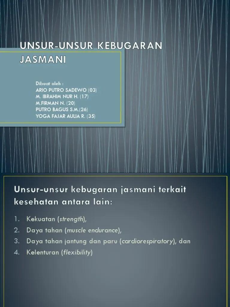 5 Unsur Kebugaran Jasmani : unsur, kebugaran, jasmani, Unsur-unsur, Kebugaran, Jasmani