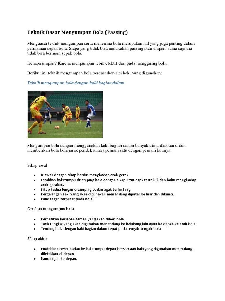Bagaimana Gerakan Mengumpan Menggunakan Kaki Bagian Dalam Pada Permainan Sepak Bola : bagaimana, gerakan, mengumpan, menggunakan, bagian, dalam, permainan, sepak, Teknik, Dasar, Permainan, Sepak