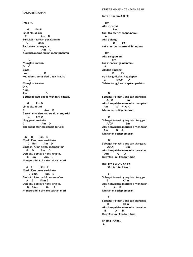 Chord Aku Bisa Flanella : chord, flanella, Gitar