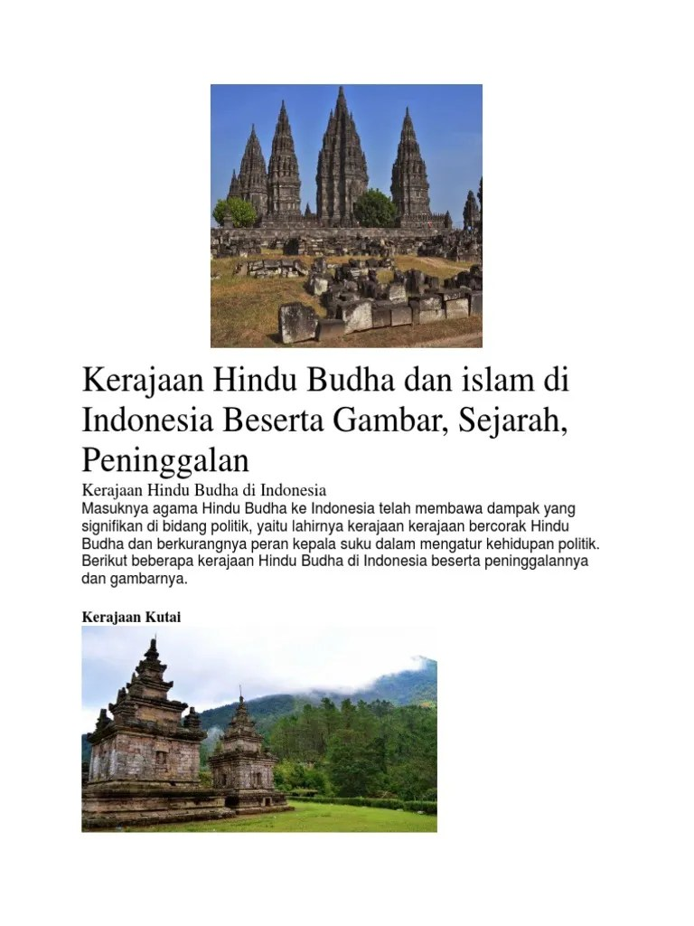 Candi Bercorak Hindu Budha : candi, bercorak, hindu, budha, Kerajaan, Bercorak, Hindu, Indonesia, Pertama, Adalah