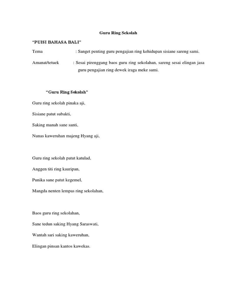 Puisi Bahasa Bali : puisi, bahasa, Puisi, Halus