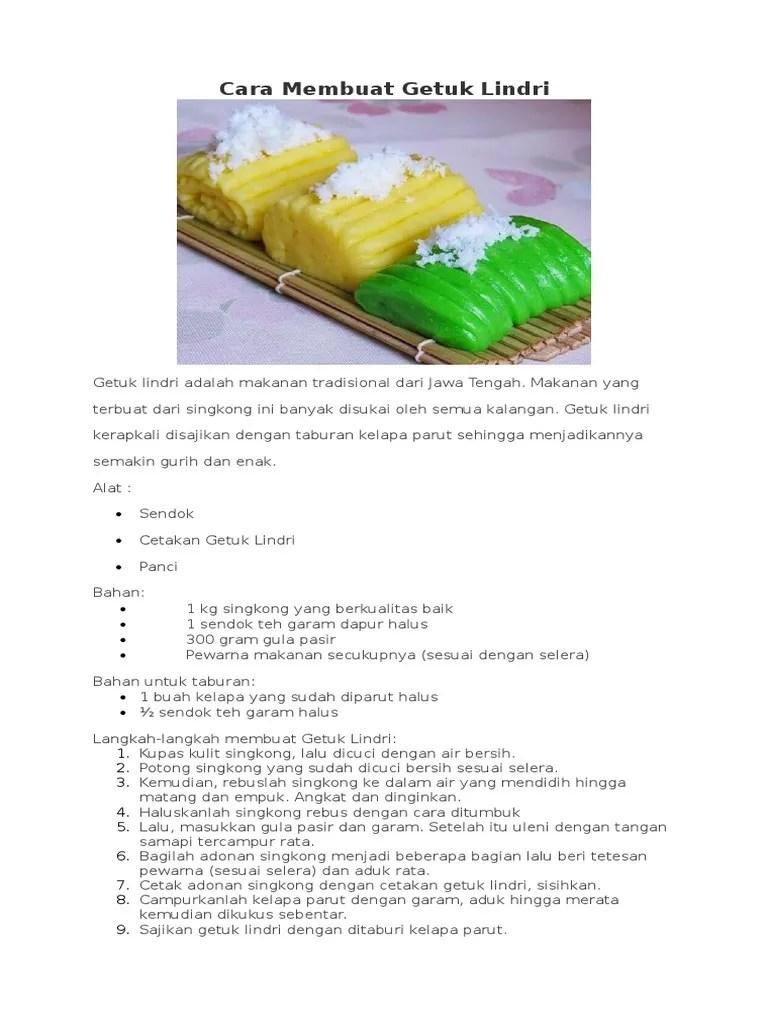 Cara Membuat Getuk Lindri : membuat, getuk, lindri, Membuat, Getuk, Lindri