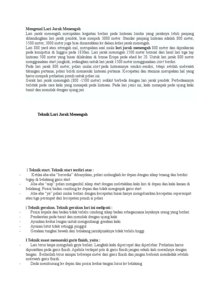 Teknik Gerakan Lari Jarak Menengah : teknik, gerakan, jarak, menengah, Mengenal, Jarak, Menengah