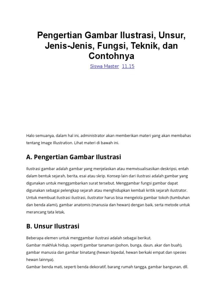 Unsur Gambar Ilustrasi : unsur, gambar, ilustrasi, Pengertian, Gambar, Ilustrasi.docx