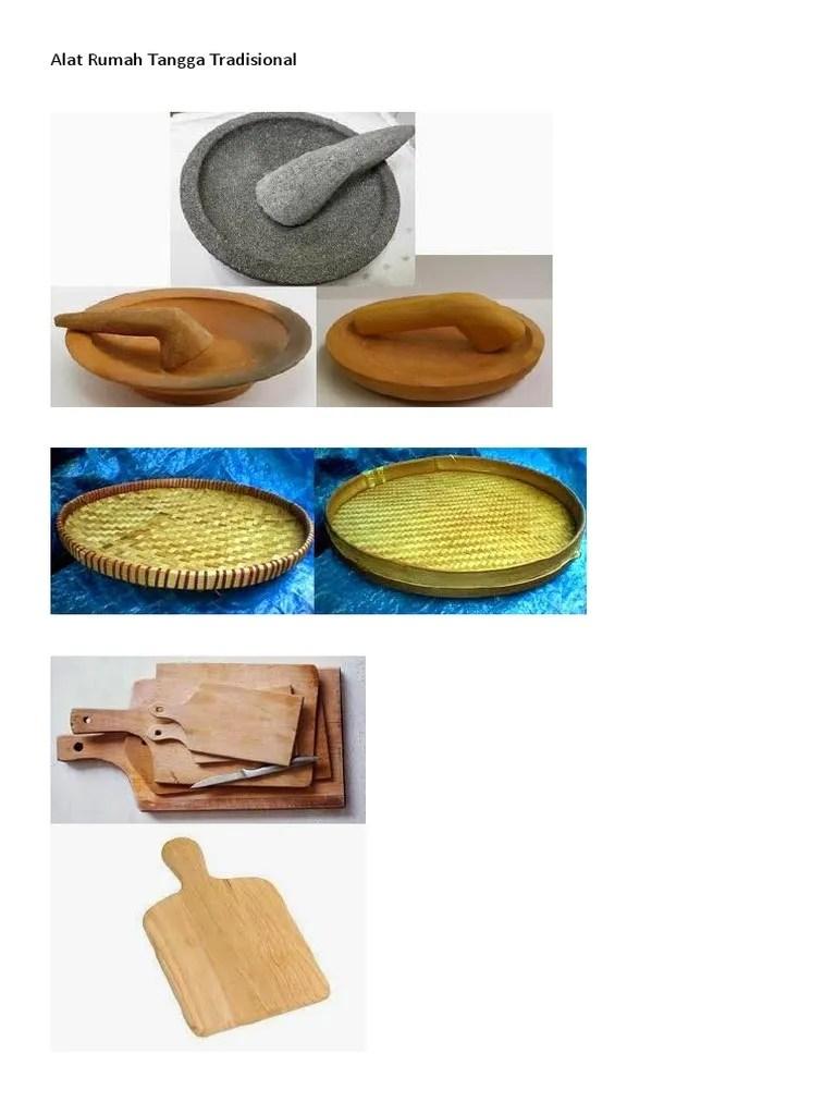 Contoh Peralatan Rumah Tangga : contoh, peralatan, rumah, tangga, Peralatan, Rumah, Tangga, Tradisional