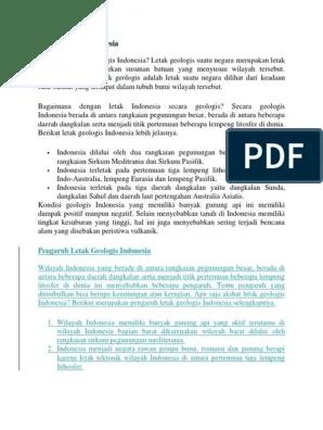 Letak Geologis Indonesia : letak, geologis, indonesia, Letak, Geologis, Indonesia