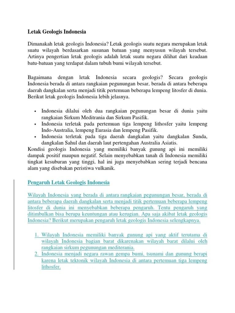 Pengertian Sirkum Mediterania : pengertian, sirkum, mediterania, Letak, Geologis, Indonesia