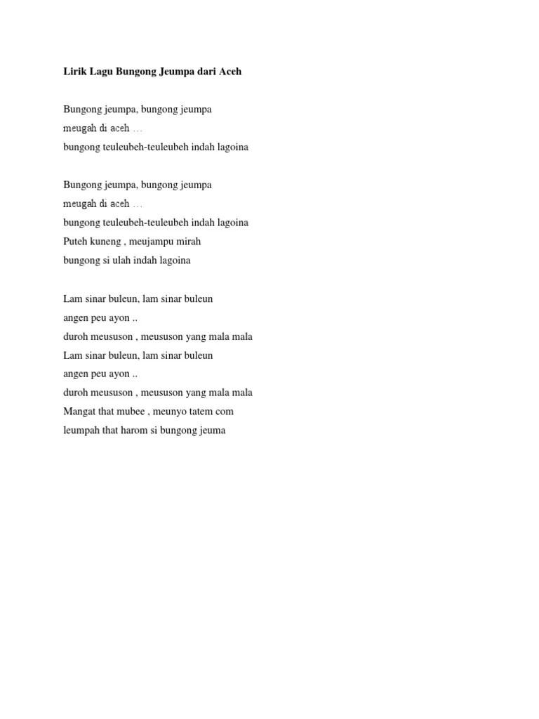 Download Lagu Bungong Jeumpa : download, bungong, jeumpa, Pengetahuan, Lirik, Bungong, Jeumpa