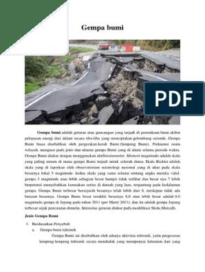 Macam Macam Gempa Bumi : macam, gempa, Kliping, Gempa, Indonesia, Lakaran
