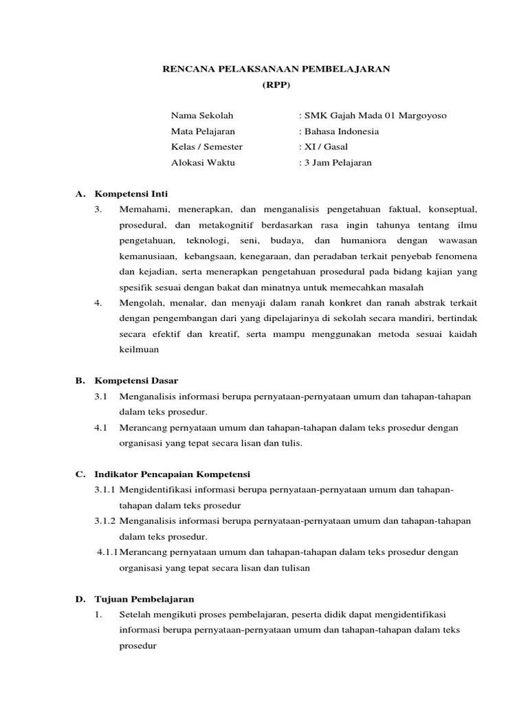 Pernyataan Umum Teks Prosedur : pernyataan, prosedur, Contoh, Pernyataan, Dalam, Prosedur, Terkait