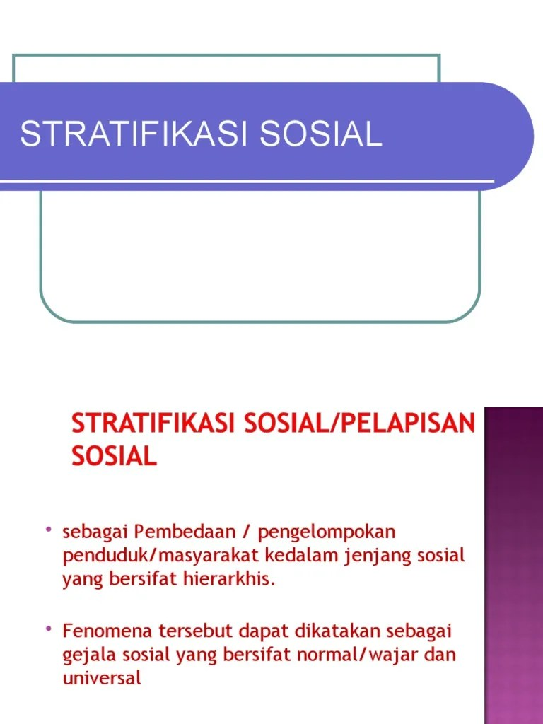 Jenis Stratifikasi Sosial : jenis, stratifikasi, sosial, Stratifikasi, Sosial