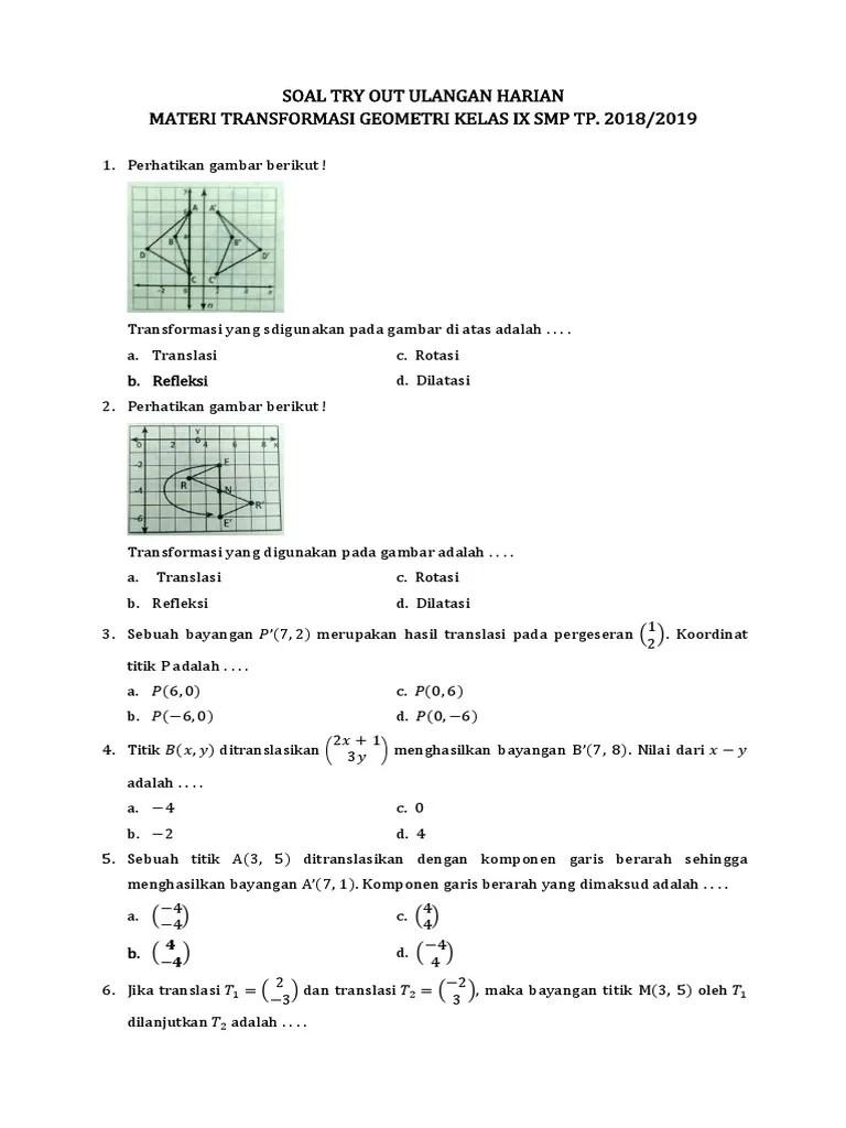 Contoh Soal Transformasi Geometri Rotasi : contoh, transformasi, geometri, rotasi, Transformasi, Geometri, Kelas