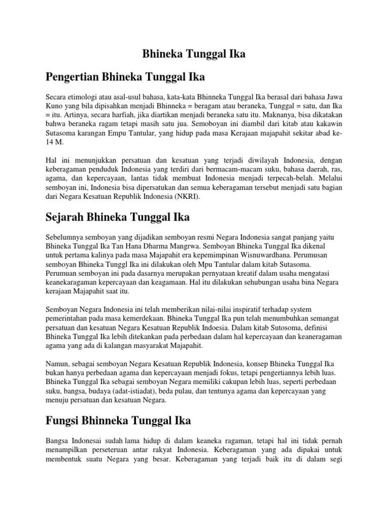 Bhineka Tunggal Ika Dari Kitab : bhineka, tunggal, kitab, Bhineka, Tunggal
