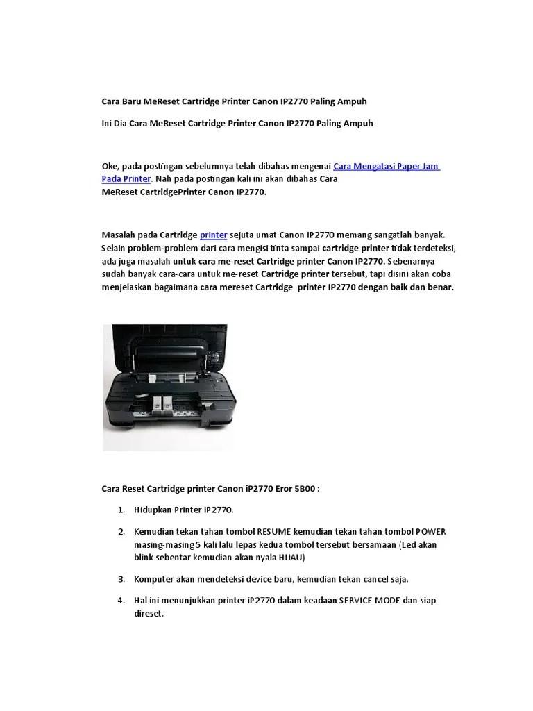 Printer Canon Ip2770 Error 5b00 Tidak Bisa Direset : printer, canon, ip2770, error, tidak, direset, Mengatasi, Cartridge, Tidak, Terbaca, Canon, Ip2770