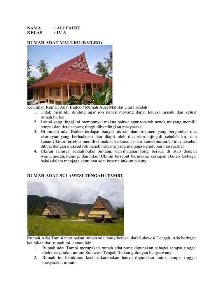 Beberapa Keunikan Rumah Adat di Indonesia... - Kompas.com