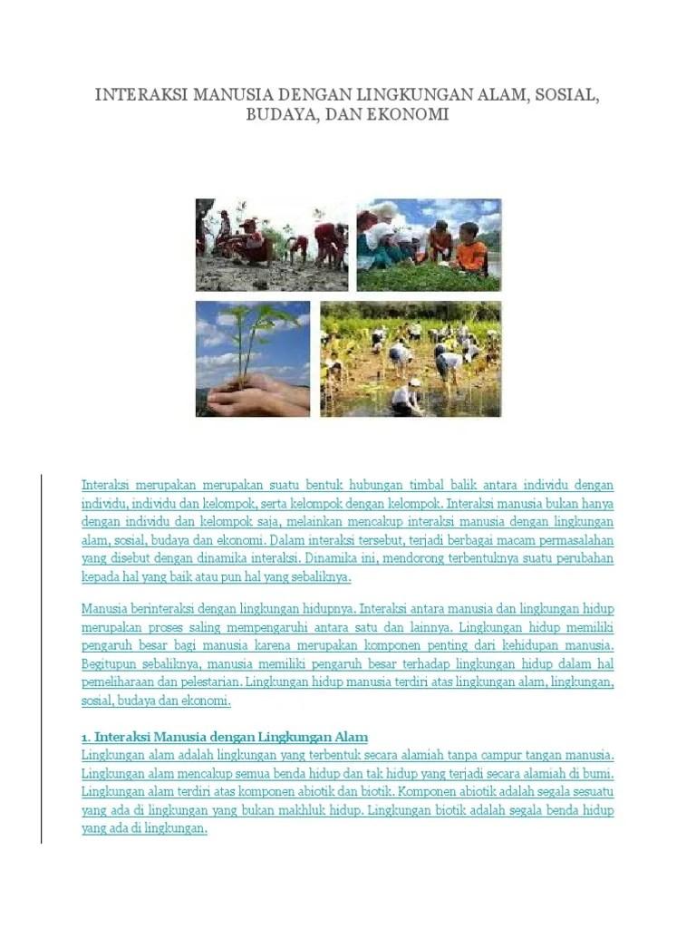 10 Contoh Interaksi Manusia Dengan Lingkungan Alam Dan Sosial : contoh, interaksi, manusia, dengan, lingkungan, sosial, Interaksi, Manusia, Dengan, Lingkungan