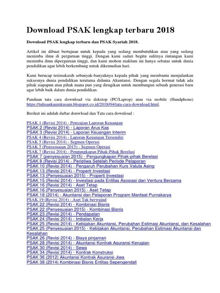 Psak 45 Terbaru 2017 Pdf : terbaru, Download, Lengkap, Terbaru