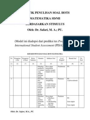 Contoh Soal Hots Sd Kelas 5 : contoh, kelas, Kisi-kisi, Matematika.docx