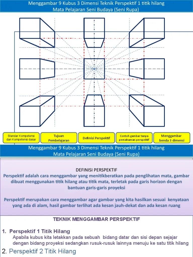 Teknik Dasar Menggambar Benda 3 Dimensi : teknik, dasar, menggambar, benda, dimensi, Persepektif