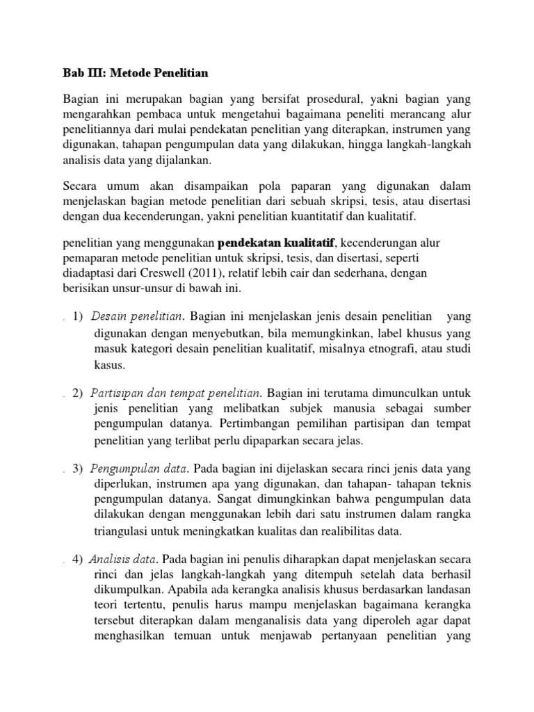 Penjelasan Bab 3 Skripsi Metode Penelitian Kualitatif Cute766