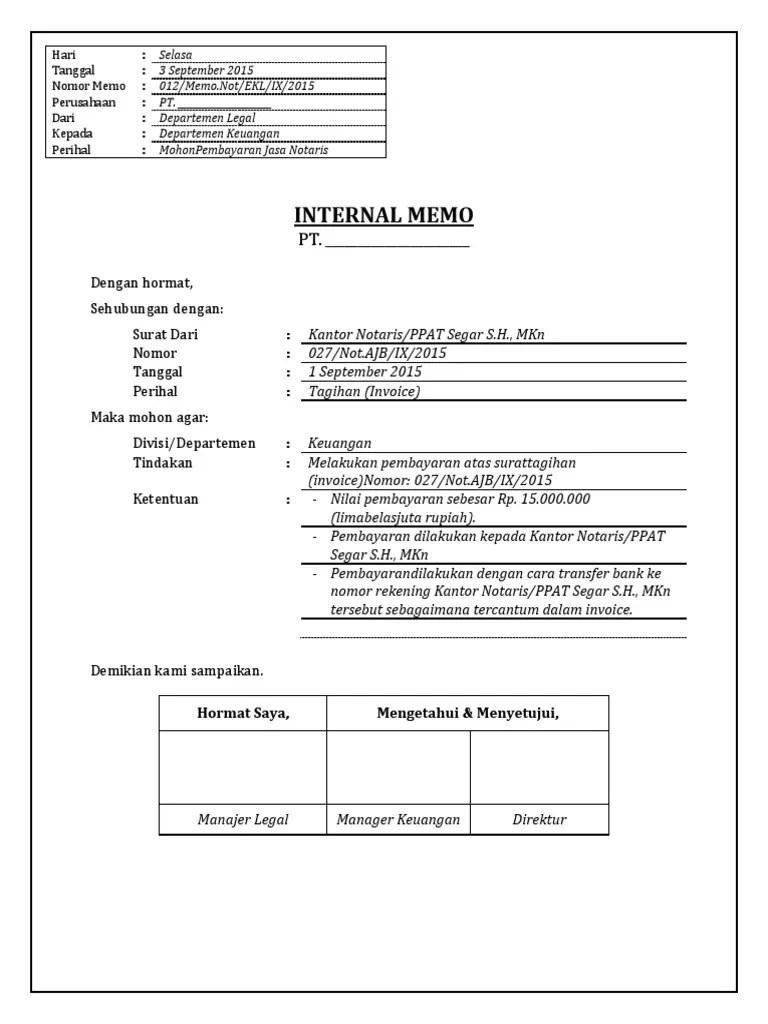 Contoh Memo Internal : contoh, internal, Contoh, Internal, Cute766