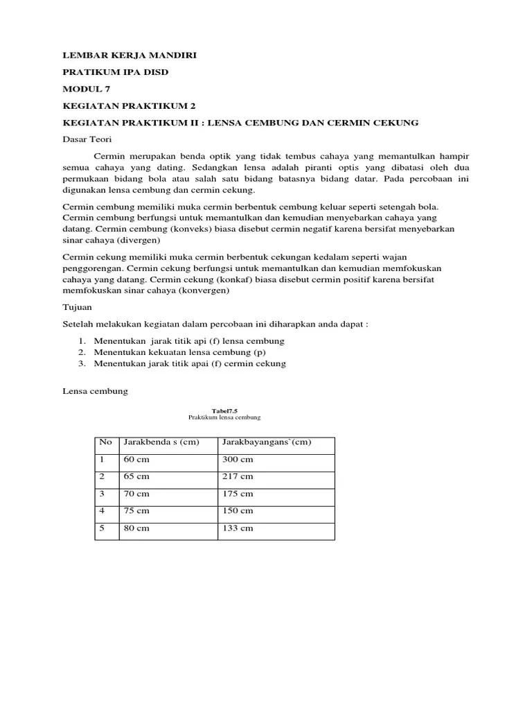 Laporan Praktikum Lensa Cembung : laporan, praktikum, lensa, cembung, Laporan, Praktikum, Lensa, Cermin, Seputar