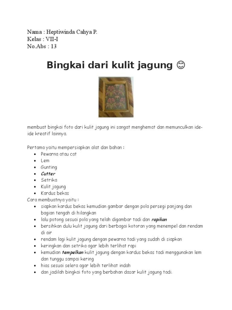 Prakarya Kulit Jagung : prakarya, kulit, jagung, Prakarya, Kulit, Jagung, (Kerajinan)