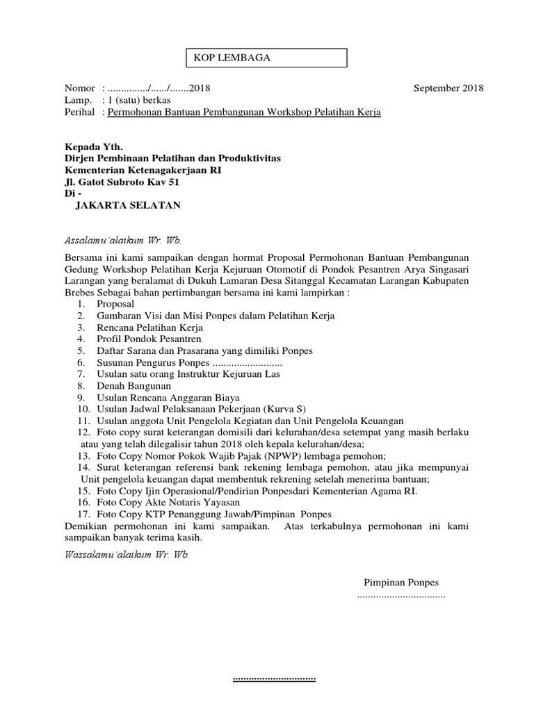Proposal Blk Pondok Pesantren