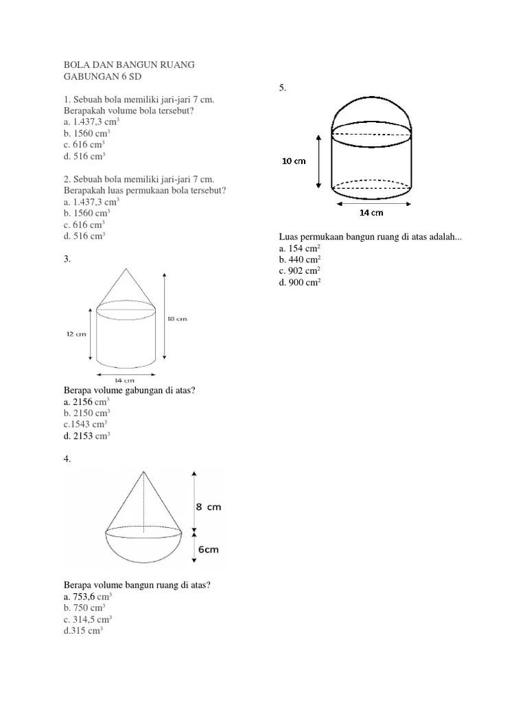 Bangun Ruang Sisi Datar free worksheet