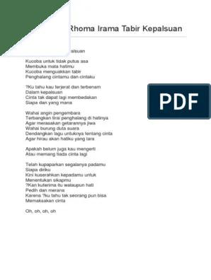 Teks Lagu Tabir Kepalsuan : tabir, kepalsuan, Lirik, Rhoma, Irama, Tabir, Kepalsuan