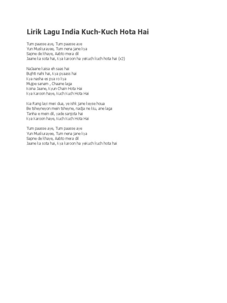Shah Rukh Khan - Kuch Kuch Hota Hai Lyrics | MetroLyrics