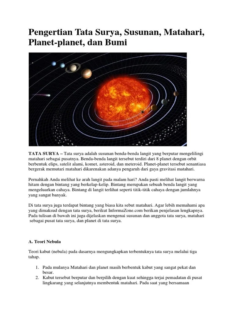 Apa Yang Dimaksud Tata Surya : dimaksud, surya, Pengertian, Surya,, Susunan,, Matahari,, Planet-planet,