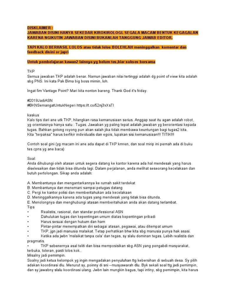 Contoh Soal Tkp Pdf : contoh, Kumpulan, Tips.pdf