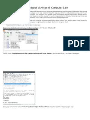 Agar Xampp Bisa Diakses Komputer Lain : xampp, diakses, komputer, Localhost, Xampp, Dapat, Akses, Komputer