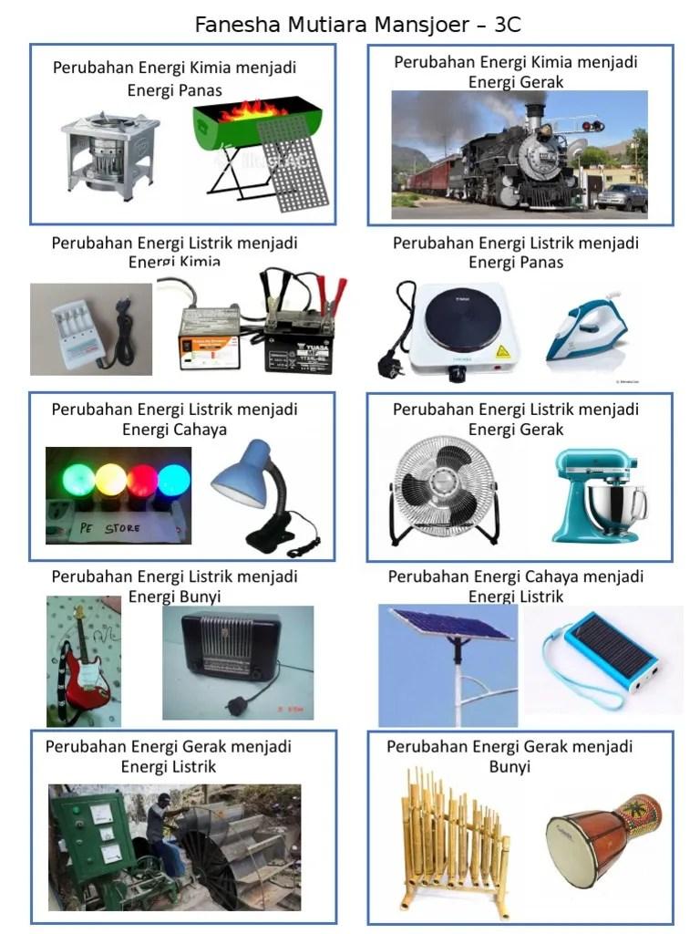 Contoh Energi Listrik Menjadi Gerak : contoh, energi, listrik, menjadi, gerak, Perubahan, Energi, Edited