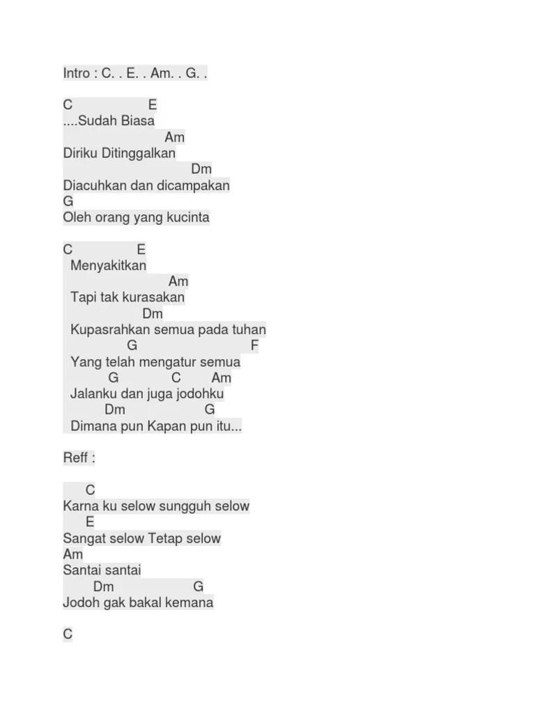 Chord Lagu Selow : chord, selow, Chord, Selow, Wahyu, Mudah